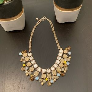 Multi-colored, sparkly statement necklace